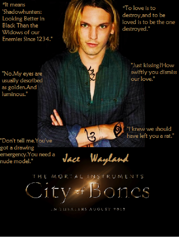 Jamie Campbell Bower As Jace Wayland Some Of His Quotes
