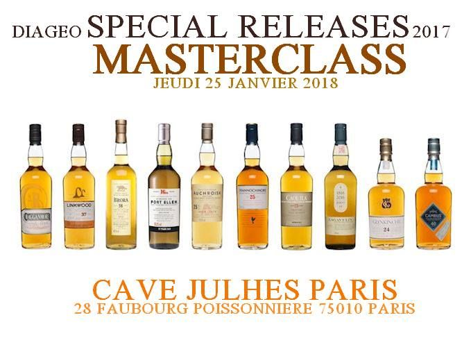 Masterclass Special Release 2017 Diageo Scotch Whisky January 25, 2018 @ 20:00 - 22:00	€107