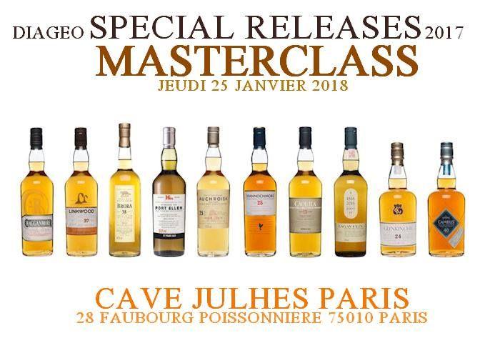 Masterclass Special Release 2017 Diageo Scotch Whisky January 25, 2018 @ 20:00 - 22:00€107