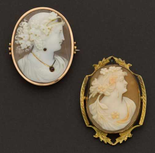 Estate Jewelry:Cameos, Two Antique Cameos. ... (Total: 2 Items)
