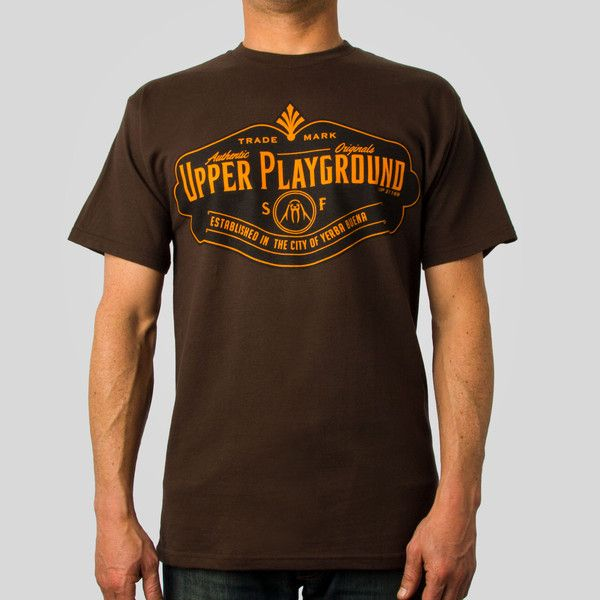 Authentic Tee in Brown #upperplayground @Upper Playground #authentic #tshirt #sf #up #yerbabuena