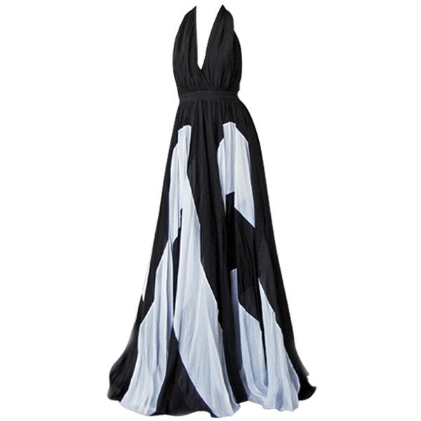 Preowned Naomi\'s Issa Over-the-top Halter Gown (15 305 SEK ...