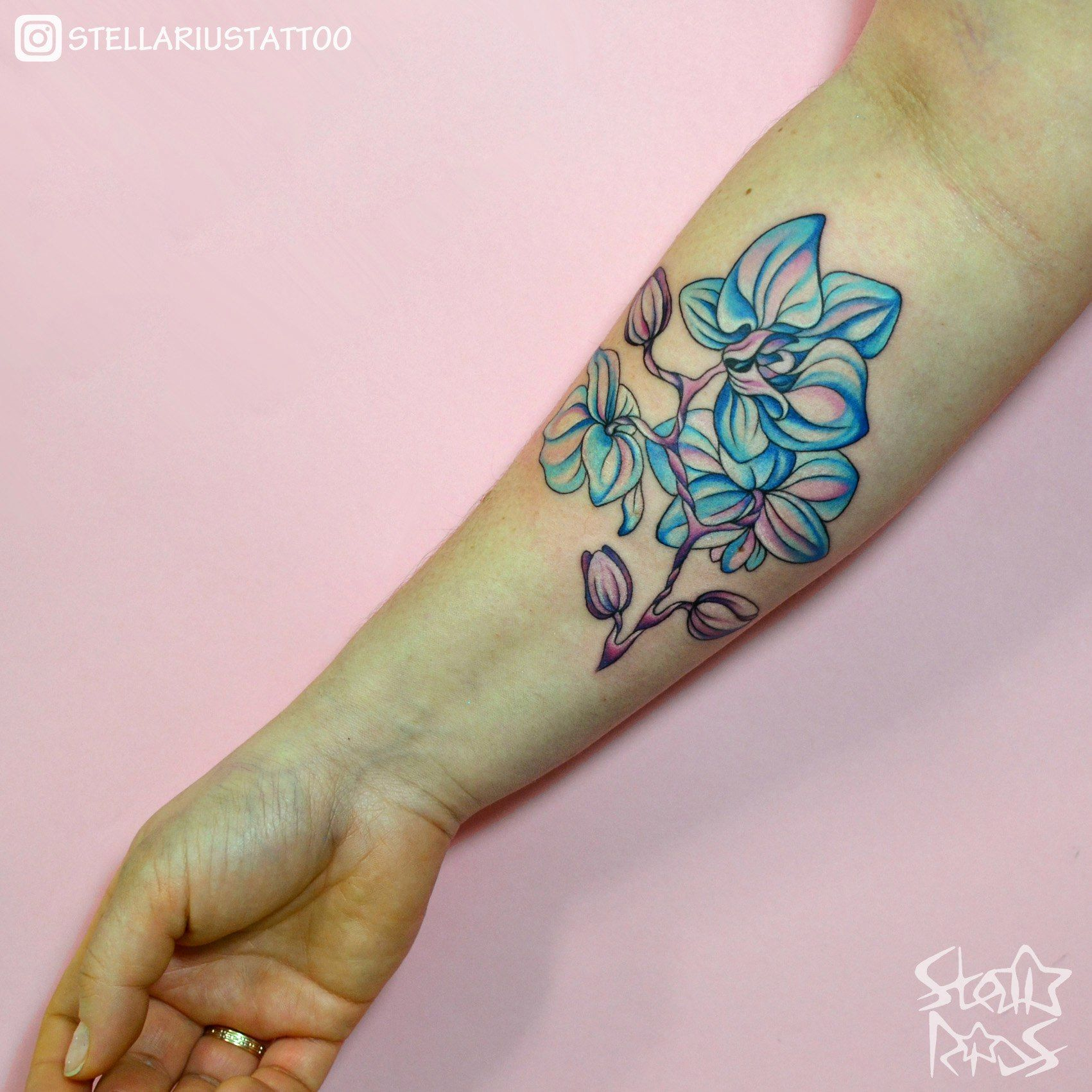 Tattoo orchid by stella rius orchid orchidtattoo flowertattoo