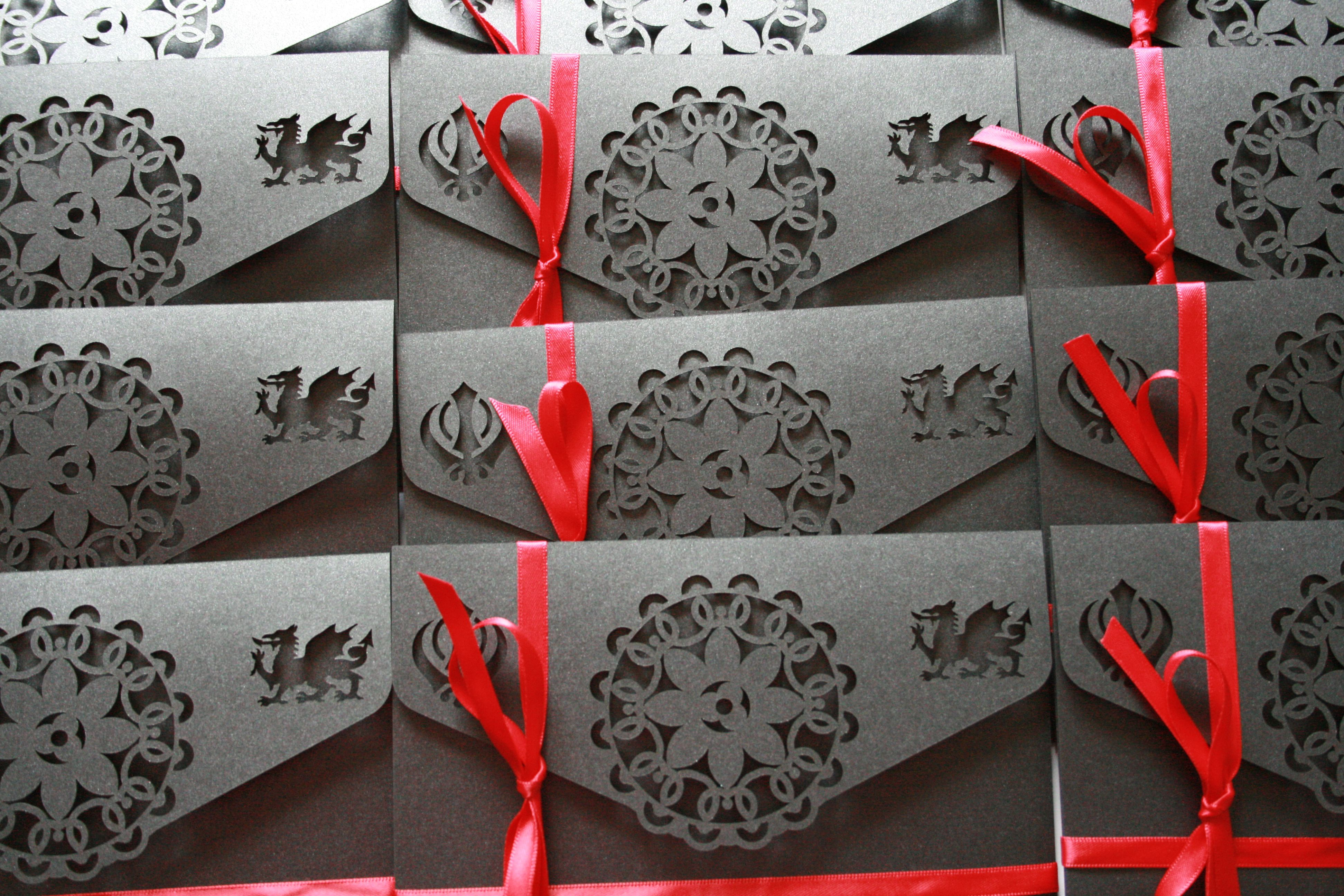 Customised laser cut wedding invitation by Graphic Embers | Previous ...