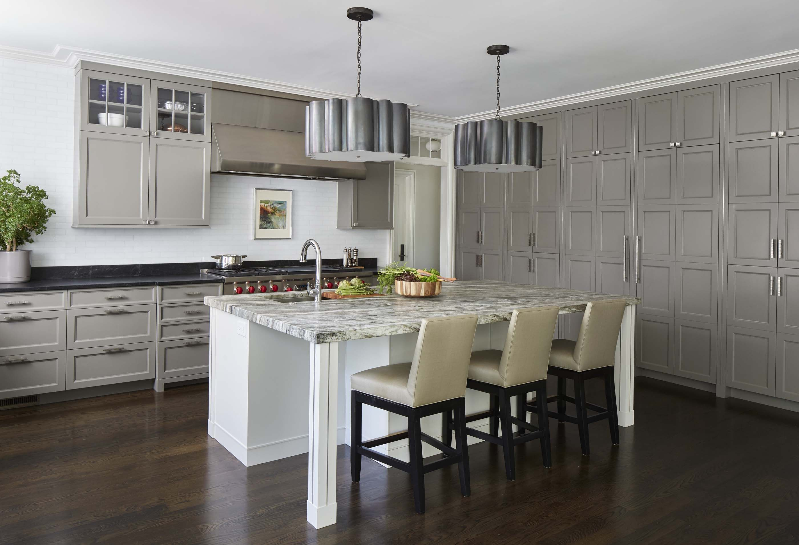 Kitchen cabinet against window  morgante wilson designed cabinets to create a symmetrical gridlike