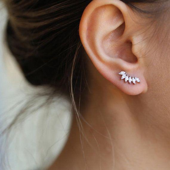 cc74c506f17aea Tiny earrings studs, Minimalist earrings, silver studs, Dainty silver  studs, gift for wife, delicate