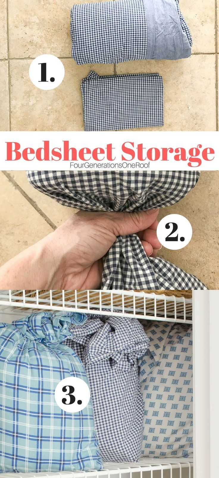 1 Make Four Piles The Great Closet Clean Out Is Your: How To Store Bed Sheets In A Pillowcase: 2 Minute