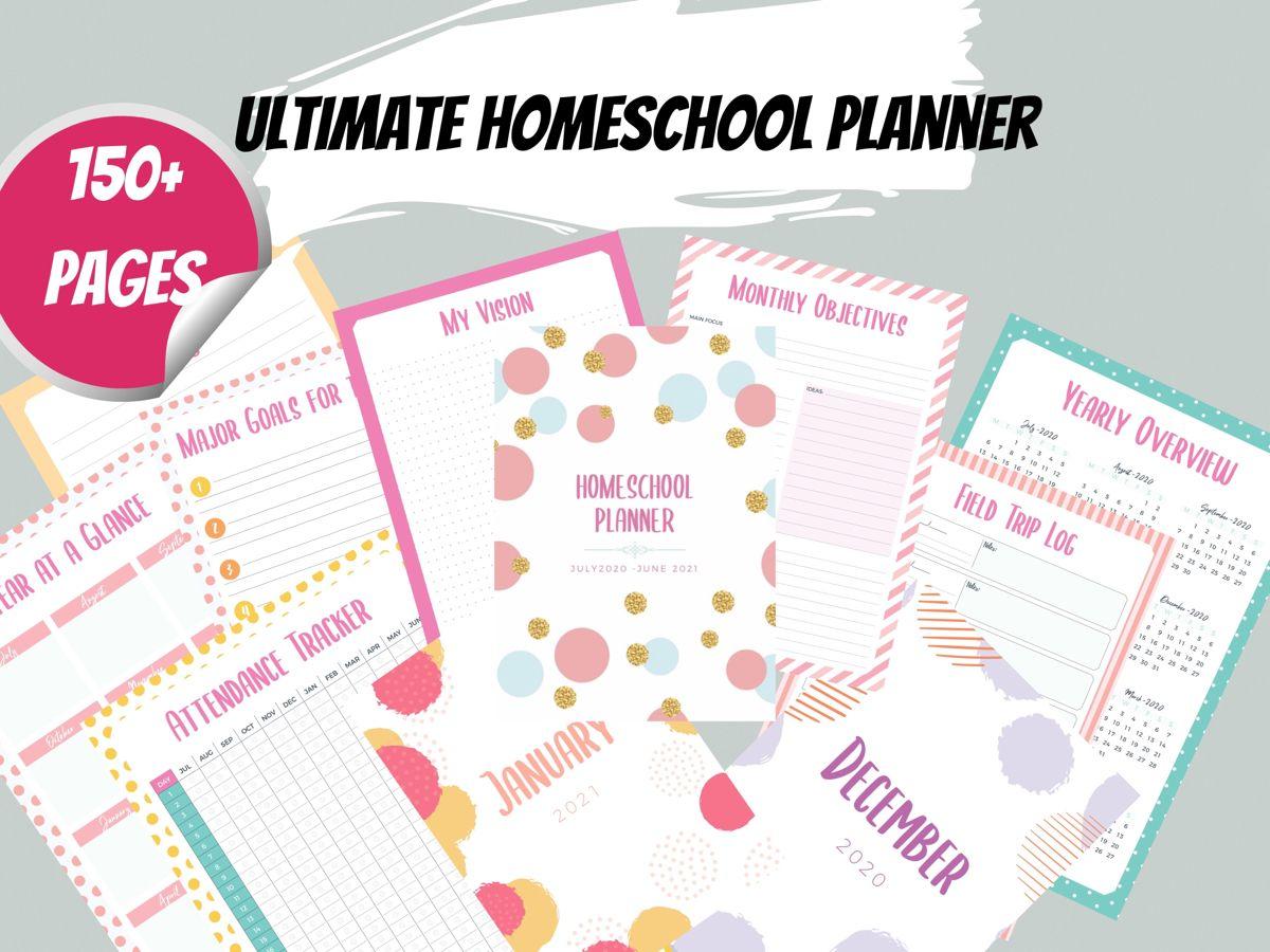 20202021 Digital Homeschool Planner Printable Homeschool