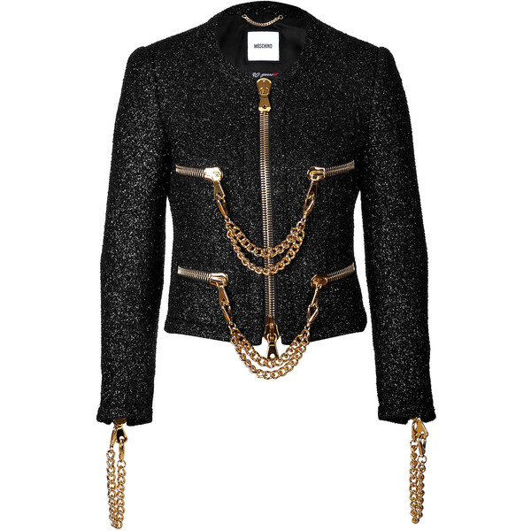 Moschino Boucle Jacket 880 Liked On Polyvore Featuring