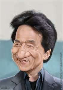 Jackie chan carictures and vector type drawings nel