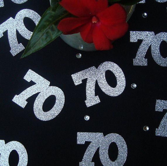 70th Birthday Confetti 70th Anniversary Confetti Seventieth