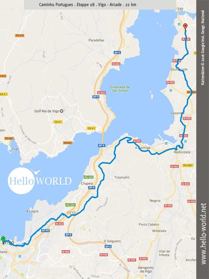 Etappe Jakobsweg Caminho Portugues Camino Portugues Porto