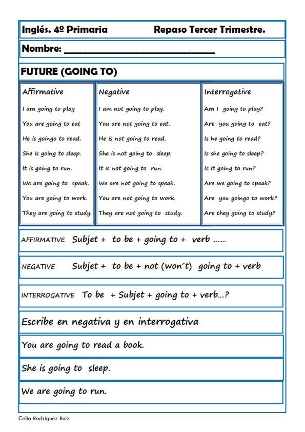 Fichas inglés cuarto primaria. Niños de 9-10 años | Educacion ...