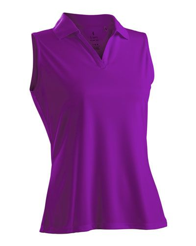 7cc9df7f1d5bf Passion Purple Nancy Lopez Ladies   Plus Size Sleeveless Golf Shirts  (Luster)! Find more awesome golf apparel at  lorisgolfshoppe