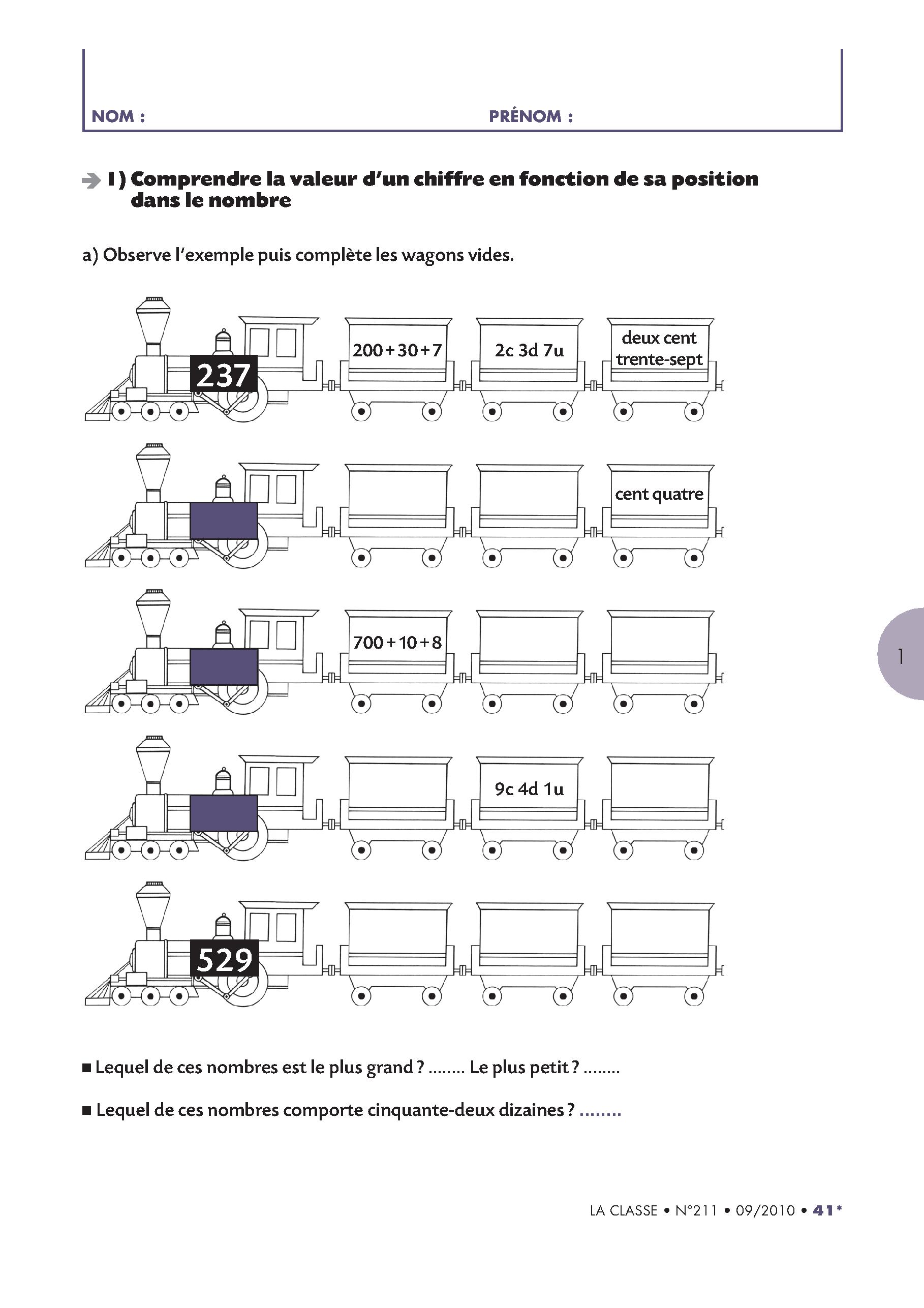 8 pages d\'exercices pour faire le bilan des compétences de CE1 en ...