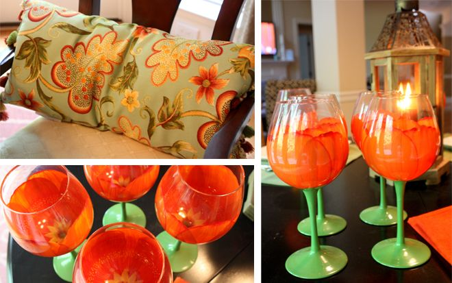 Fun party idea! love the tulip glasses!