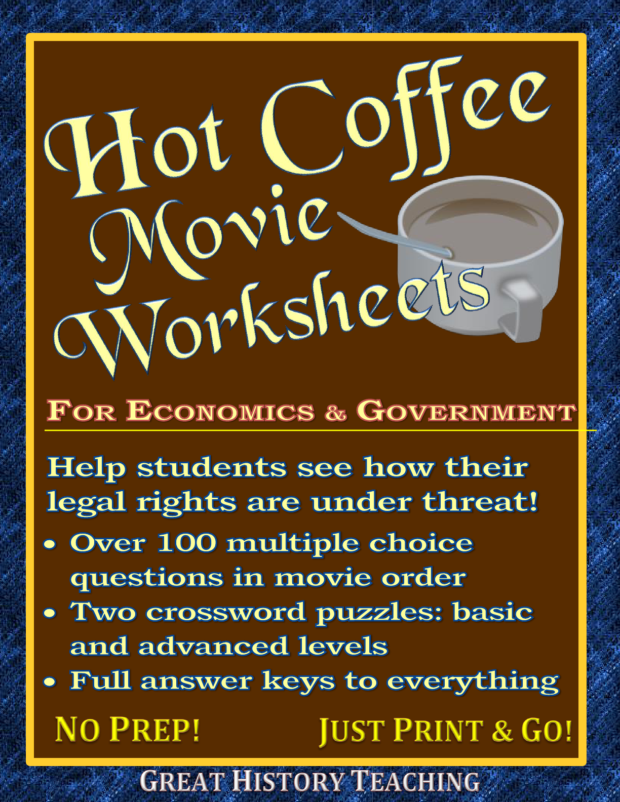 Hot Coffee Movie Worksheets Lots Of Options For