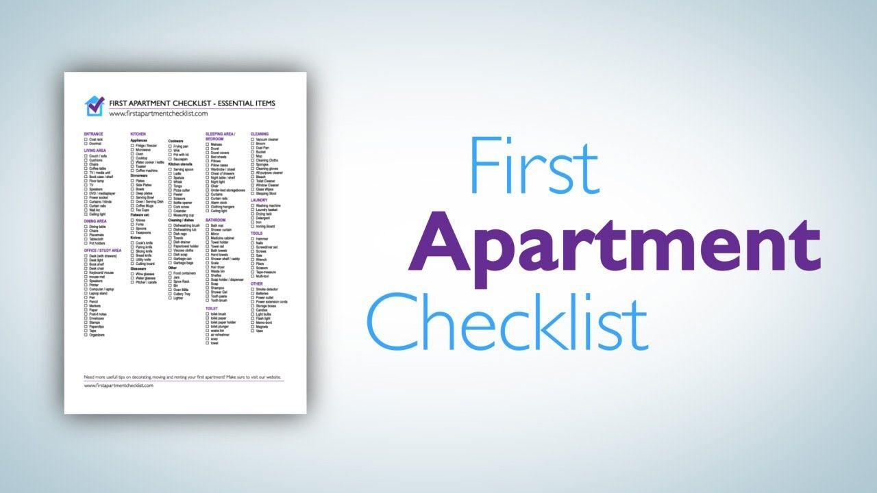 First Apartment Checklist   A Printable PDF Checklist