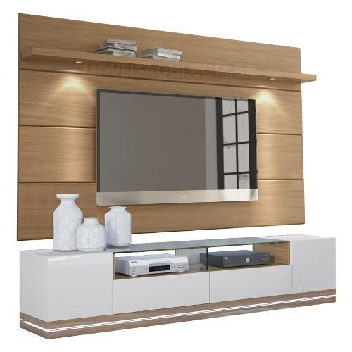 Rack rennes com painel horizon natural for Racks y modulares para living
