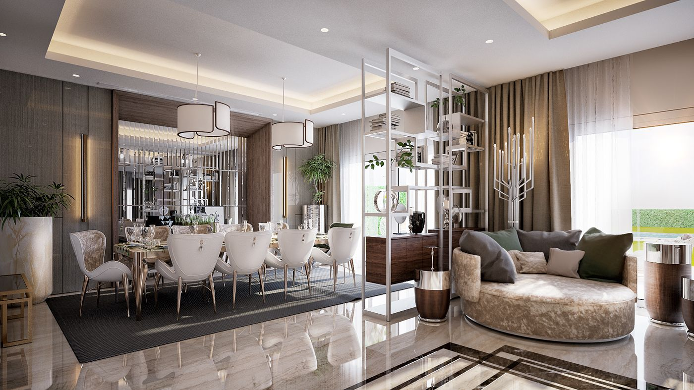 Contemporary Residence In New Cairo On Behance Living Room Designs Interior Architecture