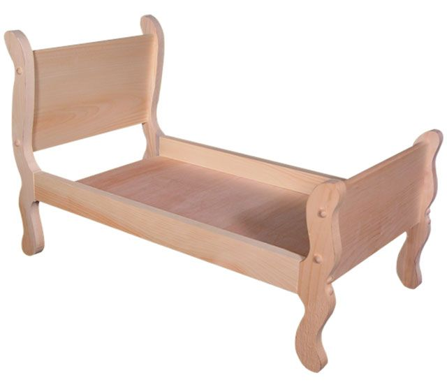 Sleigh Doll Bed Unfinished How Cute Would This Be