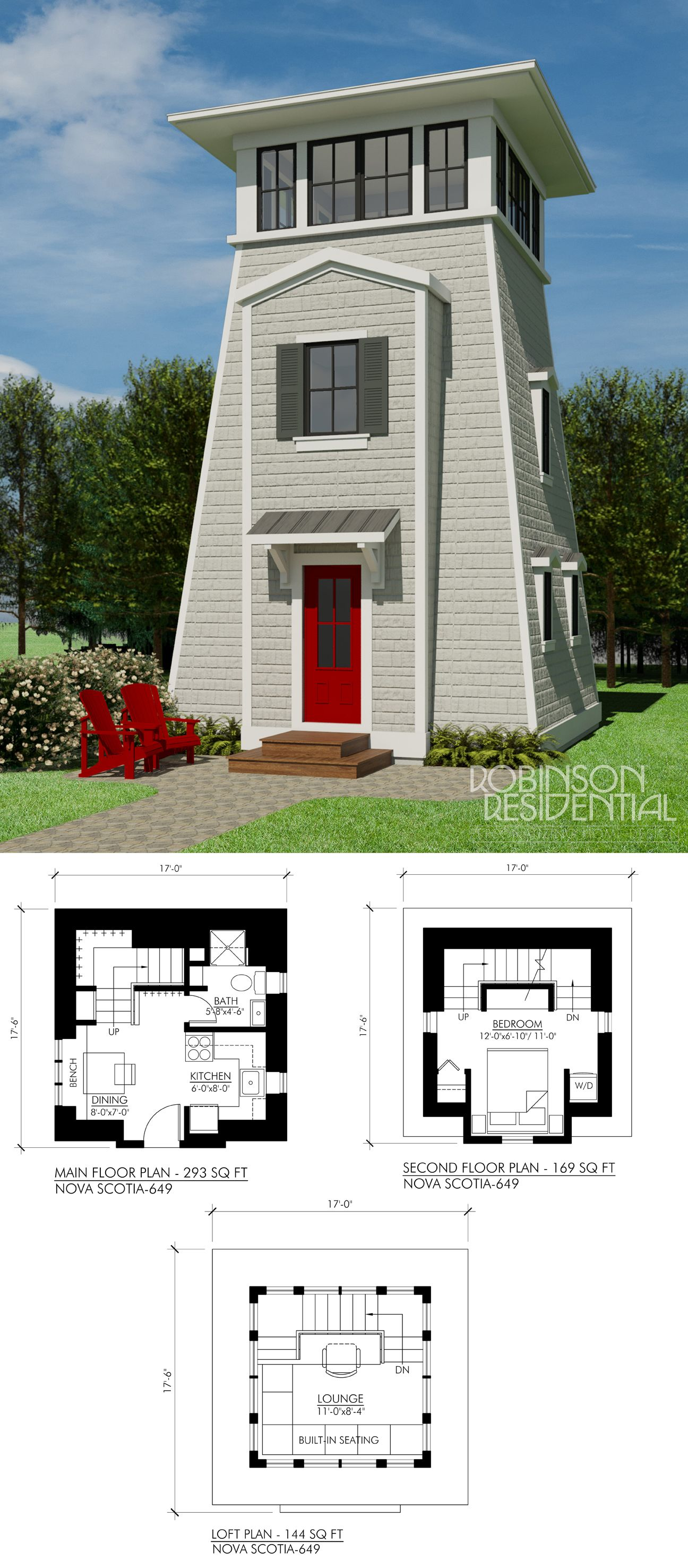 nova scotia 657 robinson plans tiny house 3 bedroomtiny - Tiny Tower 3 Bedroom Home Design
