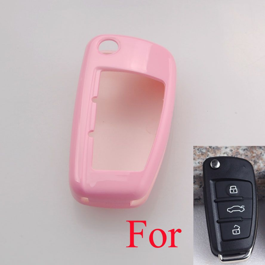 BBQ@FUKA Paint Metallic Pink Remote Key Fob Holder Shell