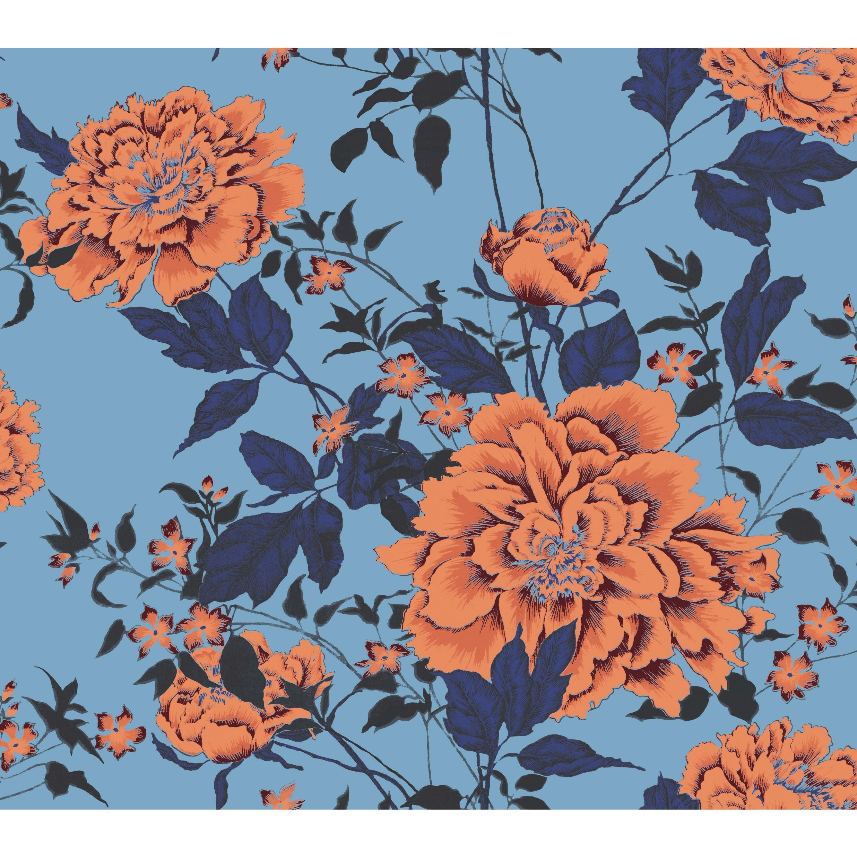 Vintage Floral Orange Peel Stick Wallpaper By Drew Barrymore Flower Home Walmart Com In 2021 Peel And Stick Wallpaper Orange Wallpaper Vintage Floral