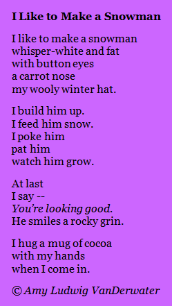 The Poem Farm: I Like To Make a Snowman - This story/how ...