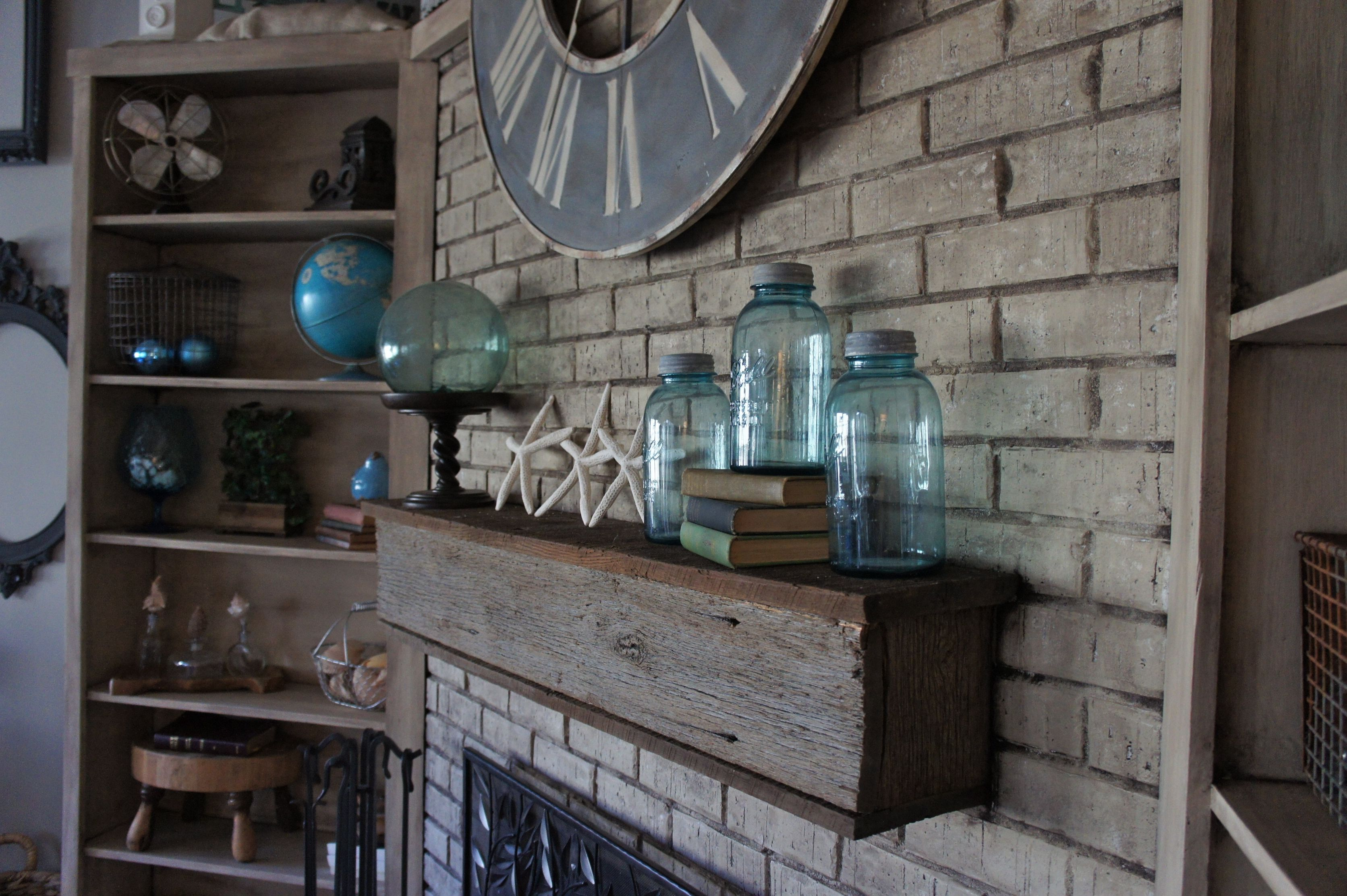 fireplace makeover with annie sloan chalk paint brick fireplace