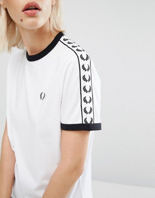 27d12a26a363 Fred Perry Archive Taped Ringer T-Shirt | And The Next Morning, I ...