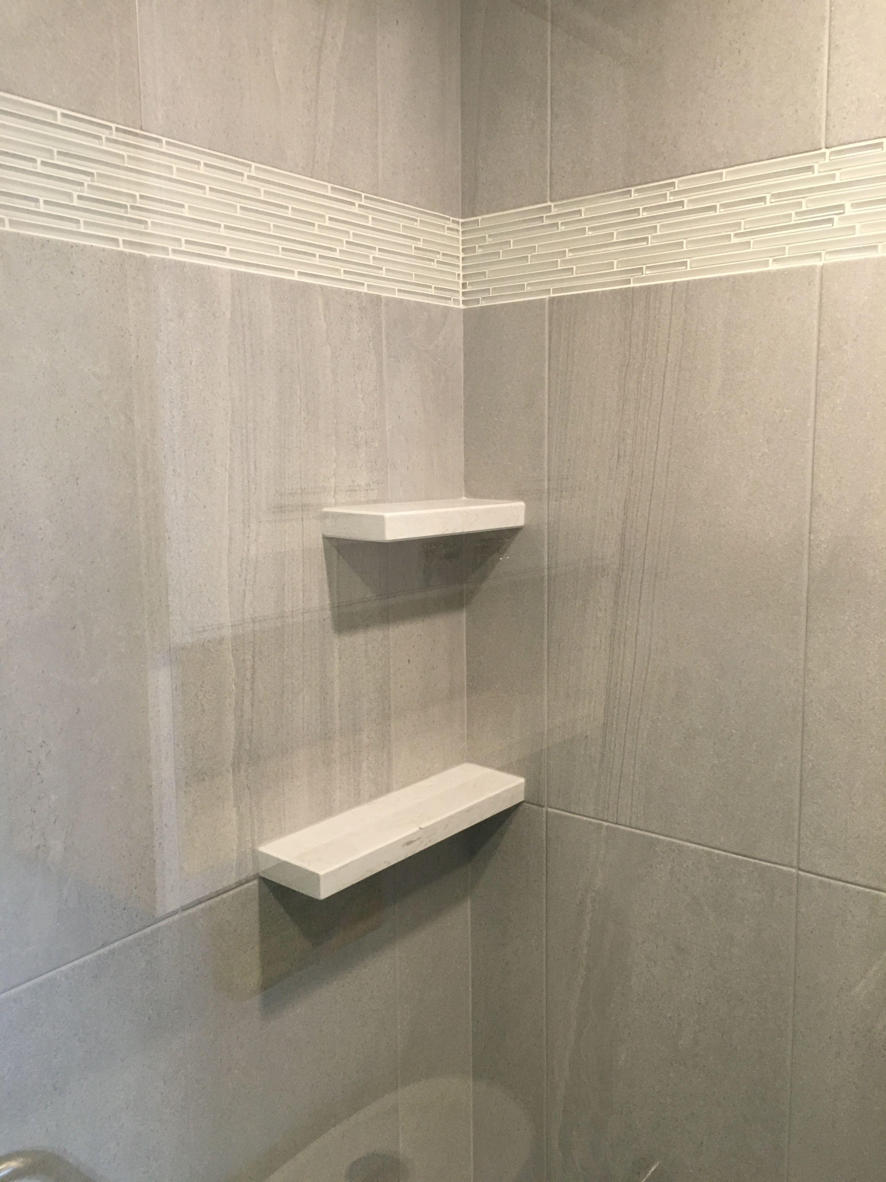 Quartz Shower Shelves With Images Bathroom Redesign Shower