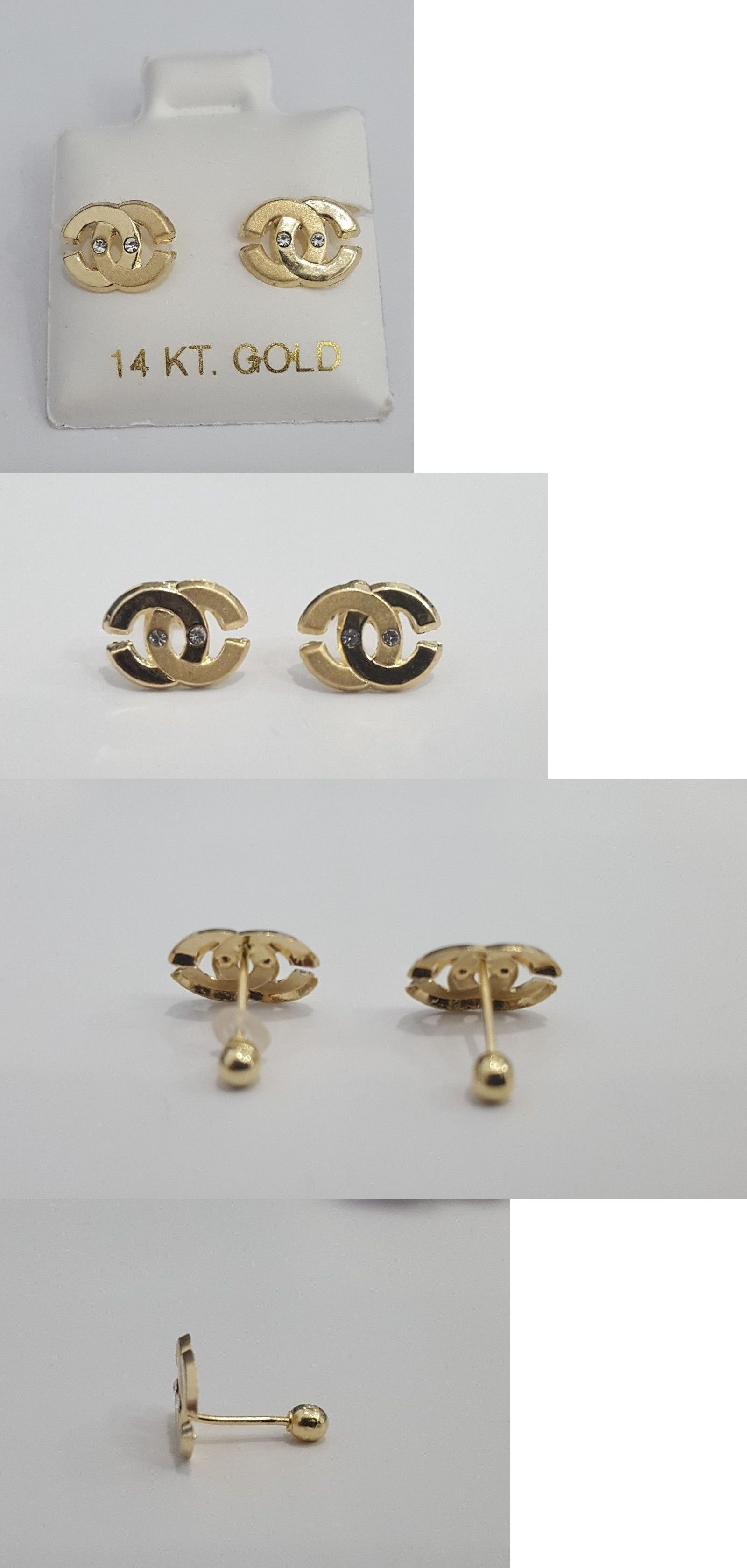 studs gold earring oro stud simple products white tds web tiny diamond classic baby vrai