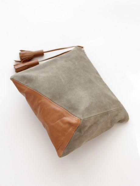fcd61730c0 Ursa Minor Cubist Clutch Special Edition - Sage/Caramel « Pour Porter