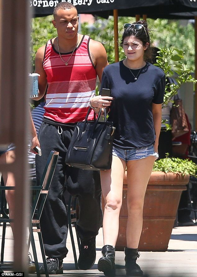 Getting to know you: Kylie Jenner was seen enjoying lunch with Kendall's  Jenner rumoured boyfriend