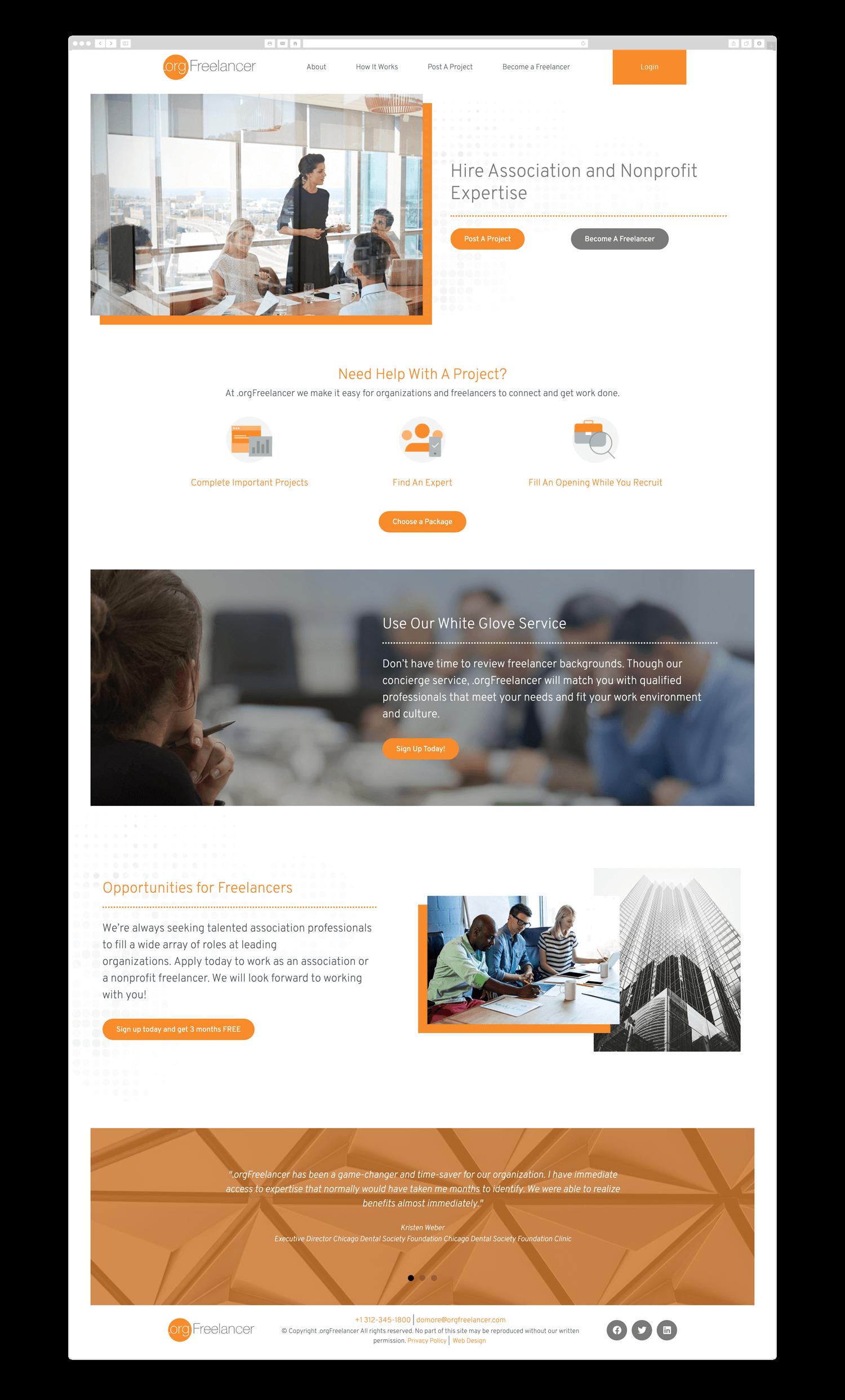 Orgfreelancer Wordpress Website Design Custom Web Design Web Design Studio