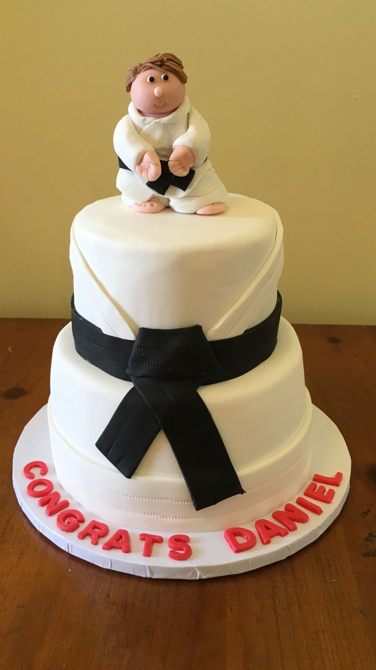 Karate Cake with Fondant Cake Topper by The Little Rustic Baker ...
