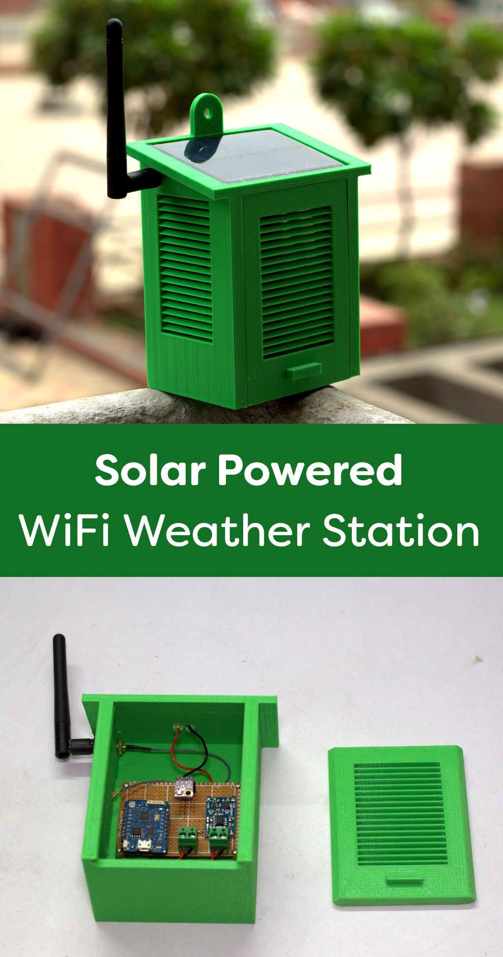 Solar Powered Wifi Weather Station V1 0 Iot Projects Weather Station Arduino
