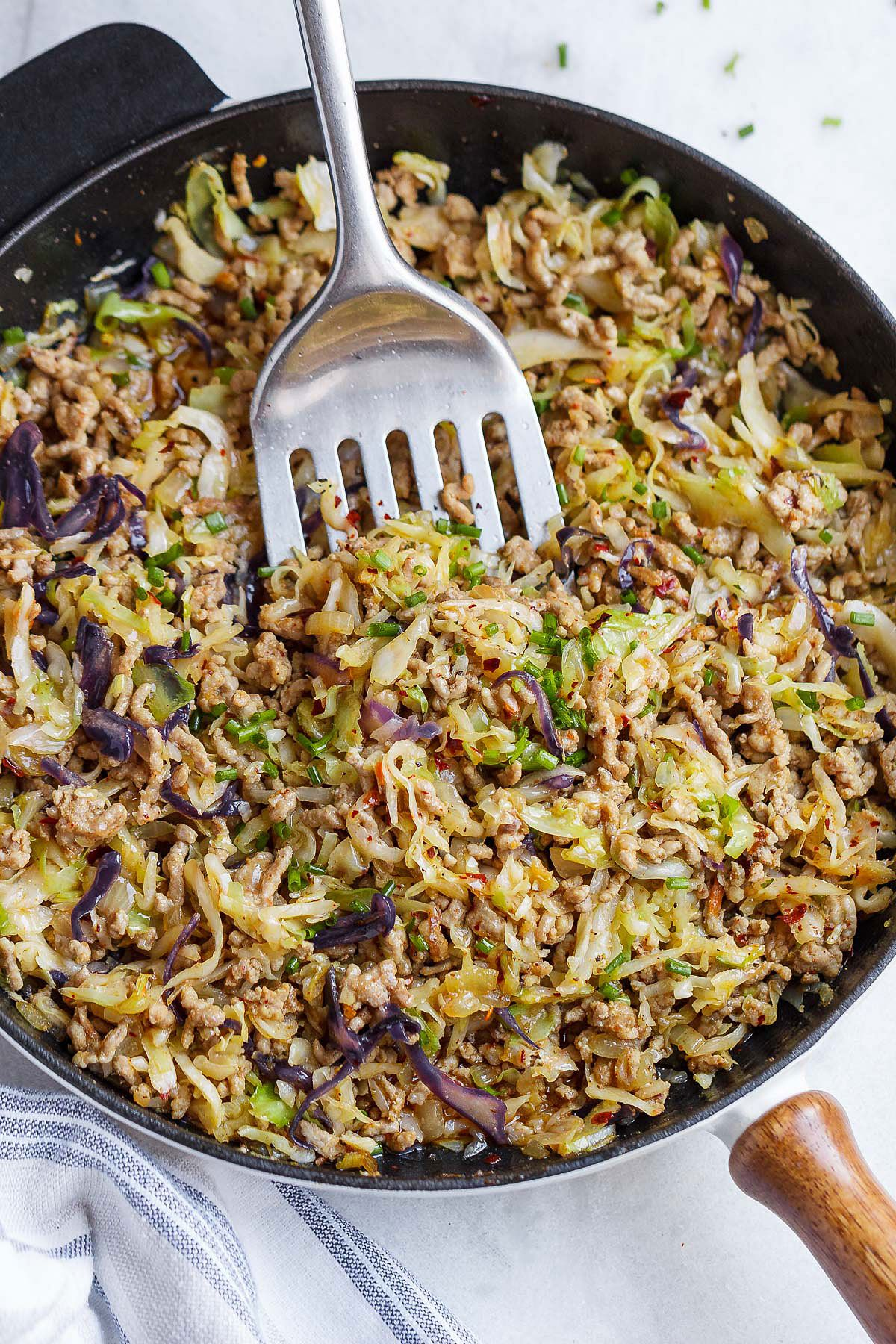 Egg Roll Bowls with Chicken and Cabbage