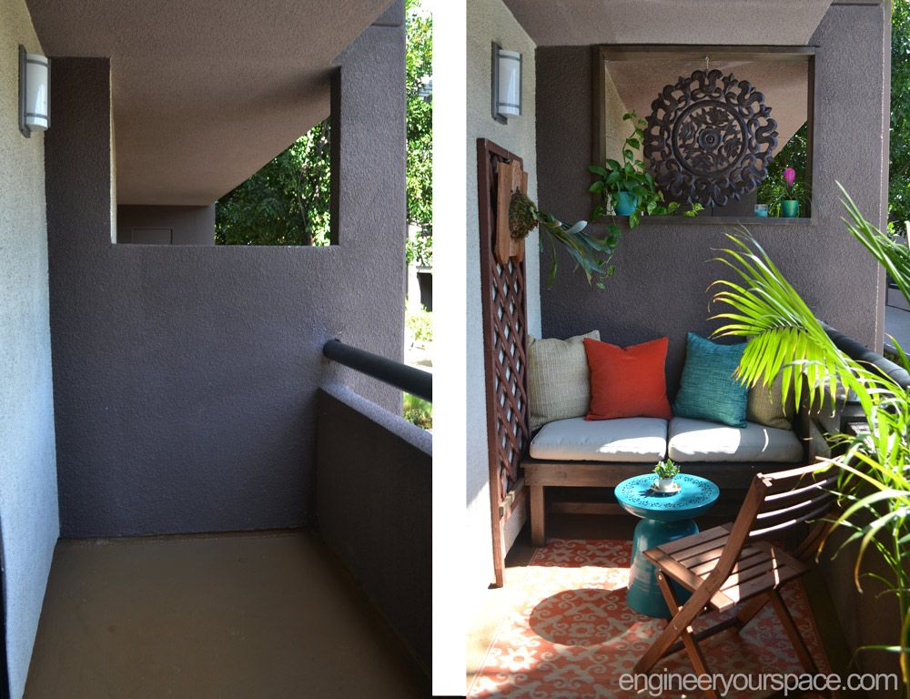 This rental balcony makeover is full of small balcony for Balcony makeover
