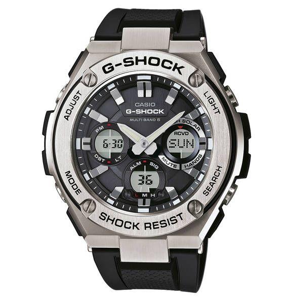 Casio G Shock Herrenuhr Chronograph Funk Solar Gst W110 1aer Schwarz Uhren Herren Uhren Herrenuhren