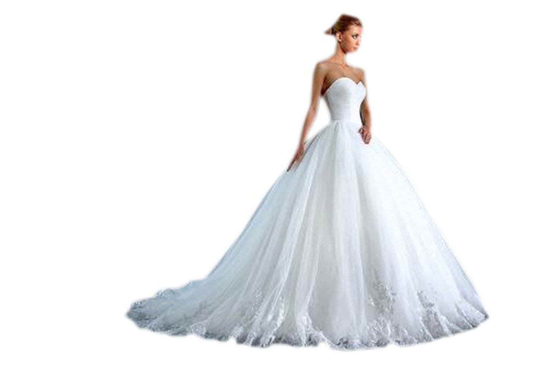 Aurora bridal ball gown wedding dress long strapless bridal gown