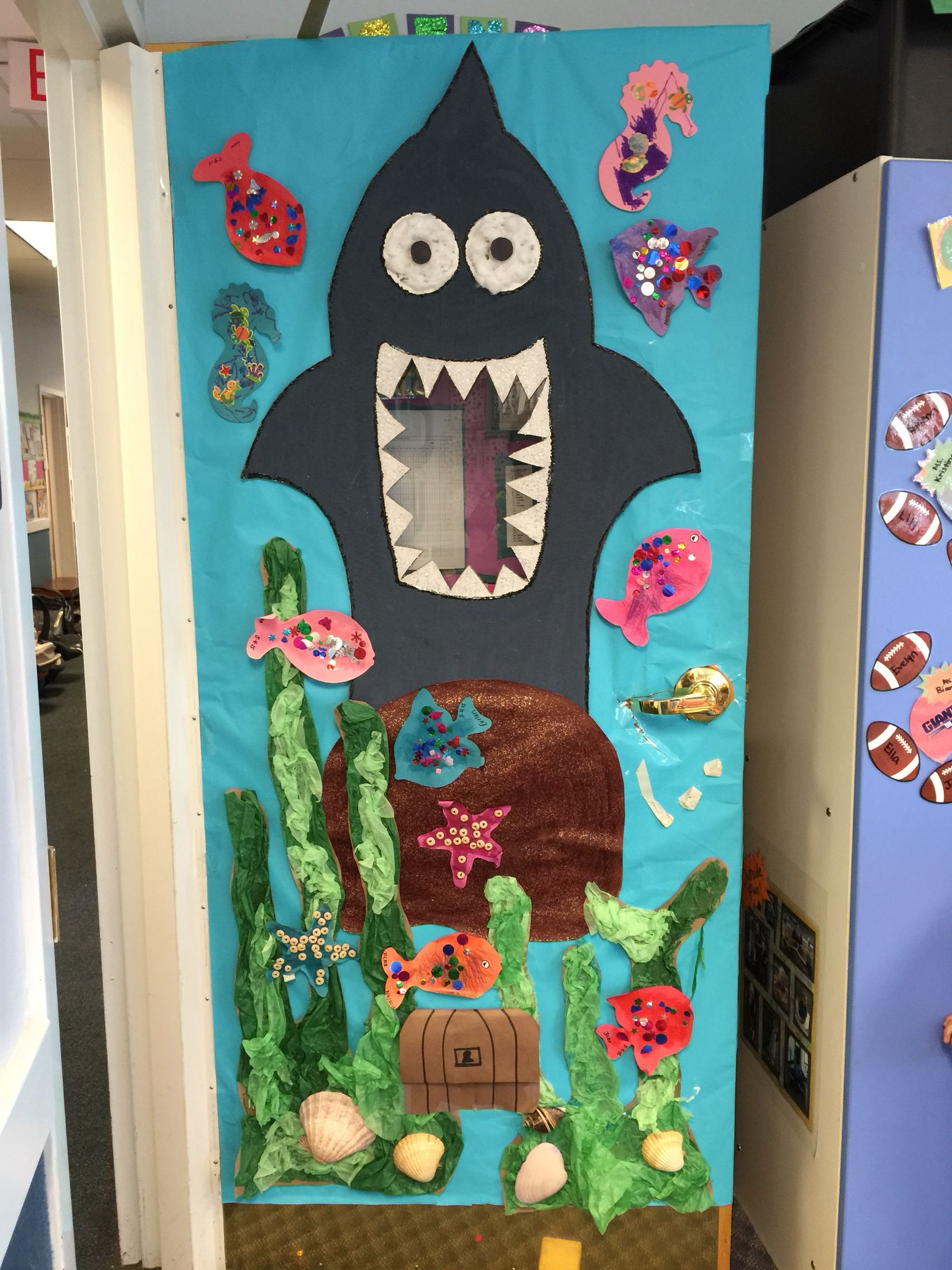 Ocean Decoration For Classroom ~ Under the sea theme classroom door and window