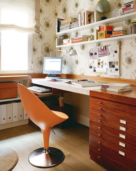 Compact Workspace In Small Bedroom Design Idea Small Home Office In