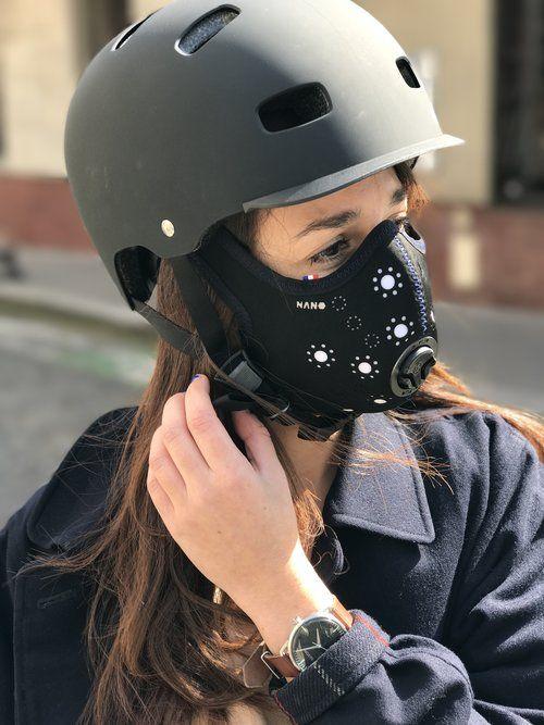 masque anti pollution course
