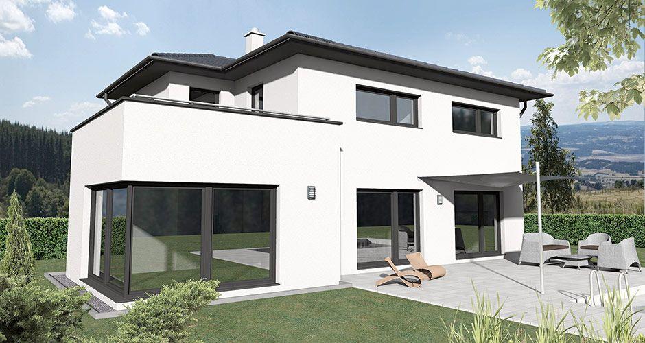 Haus bauen modern walmdach  Walm 160 Das 160 m2 Malli Haus mit Walmdach | haus bauen grundriss ...