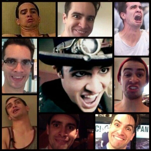 So I Made A Collage Panic At The Disco Brendon Urie Funny Interesting Faces