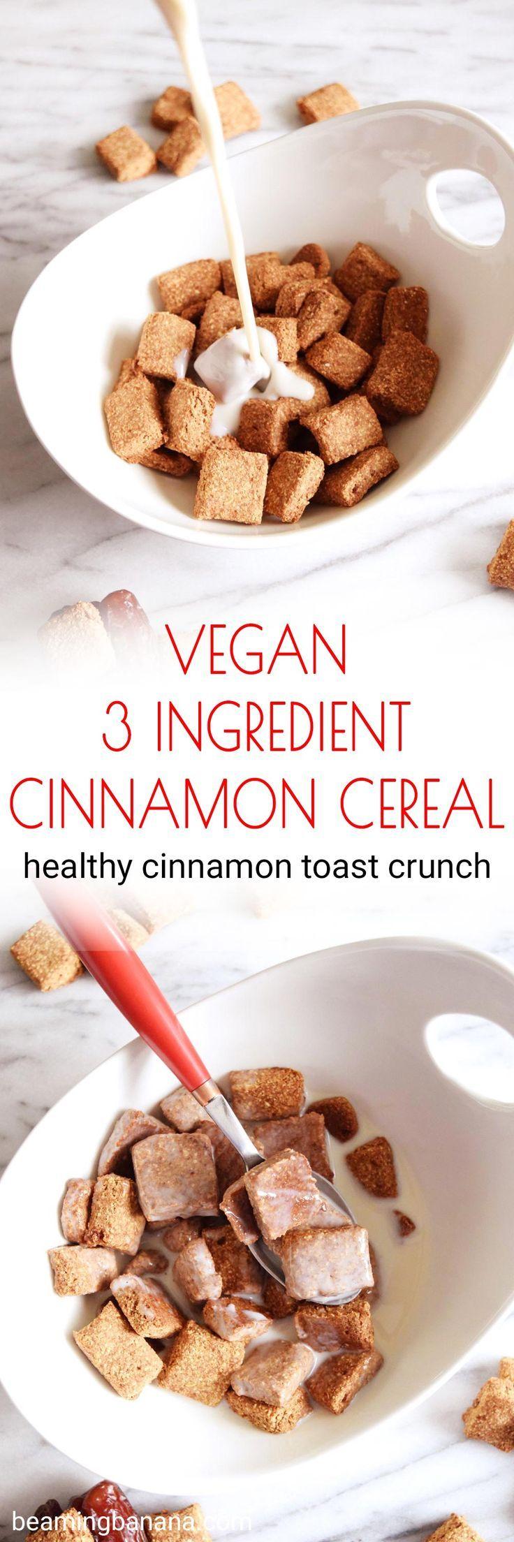 Vegan 3 Ingredient Cinnamon Cereal #cinnamontoastcrunch
