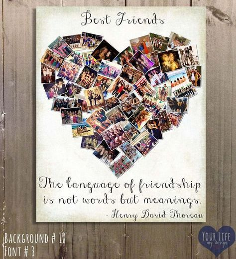 Gift for Best Friends, Photo Collage, Gift for Sister, Sorority Gifts , Personalized Birthday Gift, Maid of Honor, Best Friend Mother's Day