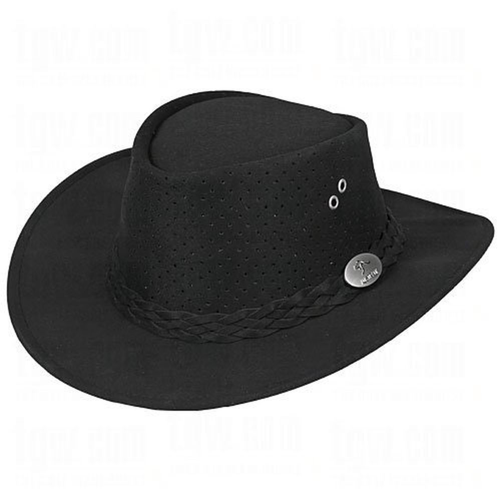 58cbac83eff Aussie Chiller Bushie Perforated Hats Black Large  aussiechiller ...